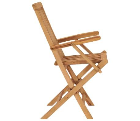 vidaXL Folding Garden Chairs 2 pcs Solid Teak Wood[4/5]