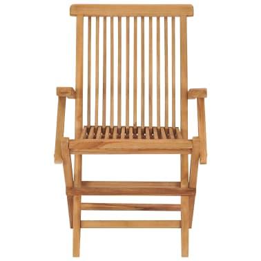 vidaXL Folding Garden Chairs 2 pcs Solid Teak Wood[3/5]