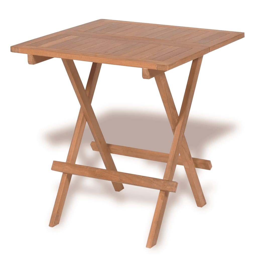 vidaXL Teak Outdoor Bistro Table 60x60x65 cm