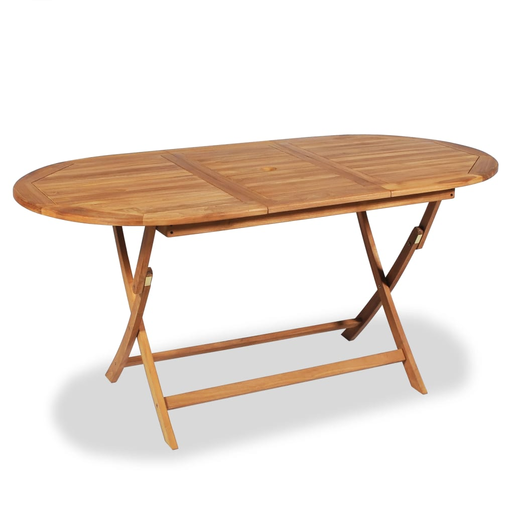 vidaXL Teak Outdoor Dining Table 160x80x75 cm
