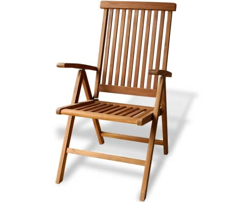 vidaXL Teak 7-Position Garden Chair 23.6\