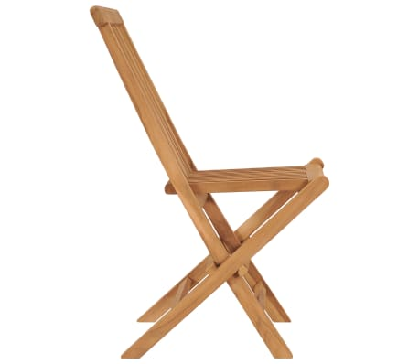 vidaXL Folding Garden Chairs 2 pcs Solid Teak Wood[4/8]