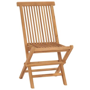vidaXL Folding Garden Chairs 2 pcs Solid Teak Wood[2/8]
