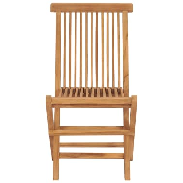 vidaXL Folding Garden Chairs 2 pcs Solid Teak Wood[3/8]