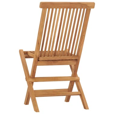 vidaXL Folding Garden Chairs 2 pcs Solid Teak Wood[5/8]