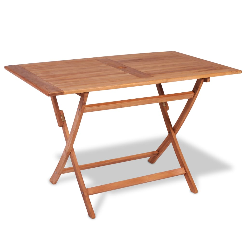 vidaXL Teak Outdoor Dining Table 120x70x75 cm
