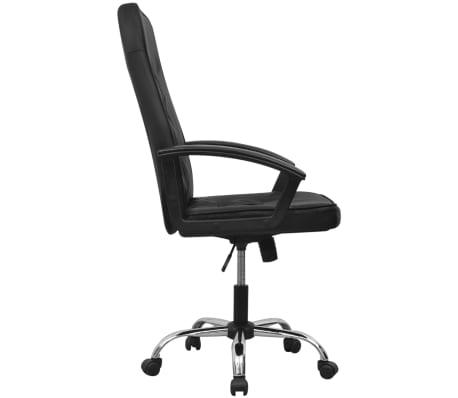 Čierne kancelárske kreslo z umelej kože vidaXL 67 x 70 cm[3/6]