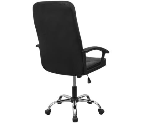 Čierne kancelárske kreslo z umelej kože vidaXL 67 x 70 cm[4/6]