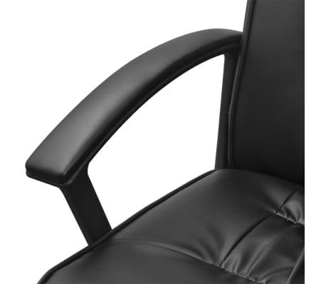 vidaXL Pisarniški Stol iz Umetnega Usnja 67 x 70 cm Črne Barve[5/6]