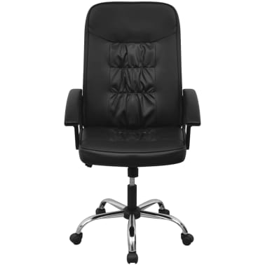 Čierne kancelárske kreslo z umelej kože vidaXL 67 x 70 cm[2/6]