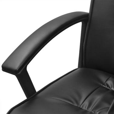 Čierne kancelárske kreslo z umelej kože vidaXL 67 x 70 cm[5/6]