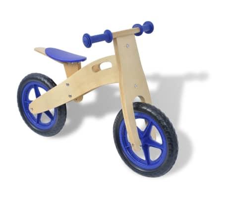 vidaXL Bicicletta senza Pedali in Legno Blu[1/6]