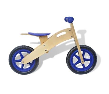 vidaXL Bicicletta senza Pedali in Legno Blu[2/6]