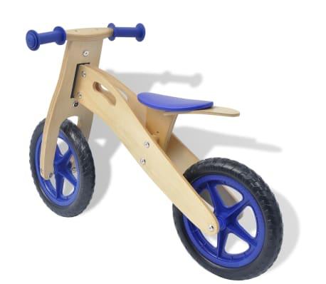 vidaXL Bicicletta senza Pedali in Legno Blu[3/6]