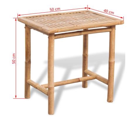 vidaXL 3-daļīgs bistro mēbeļu komplekts ar matračiem, bambuss[9/9]
