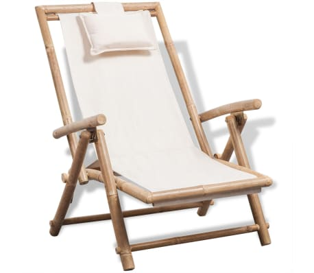vidaXL Outdoor Deck Chair Bamboo-picture