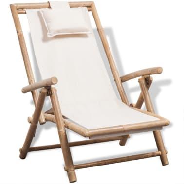 vidaXL pludmales krēsls, bambuss[1/6]