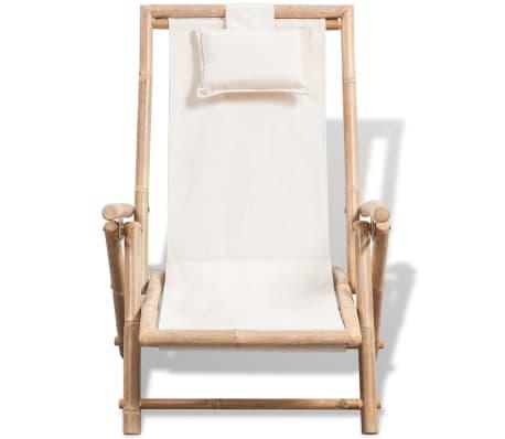 vidaXL pludmales krēsls, bambuss[2/6]