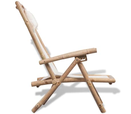 vidaXL pludmales krēsls, bambuss[3/6]