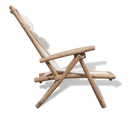 vidaXL pludmales krēsls, bambuss[4/6]