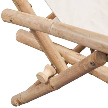 vidaXL pludmales krēsls, bambuss[5/6]