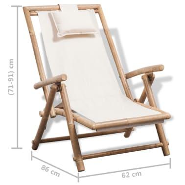 vidaXL pludmales krēsls, bambuss[6/6]