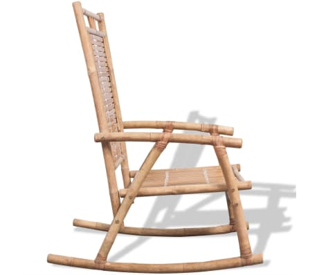 Vidaxl schaukelstuhl stuhl schaukelsessel relax for Schaukelstuhl bambus