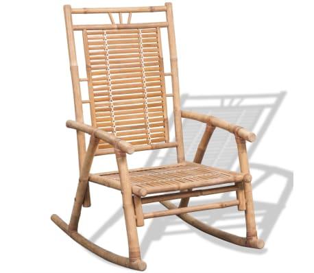 vidaXL Rocking Chair Bamboo[5/10]
