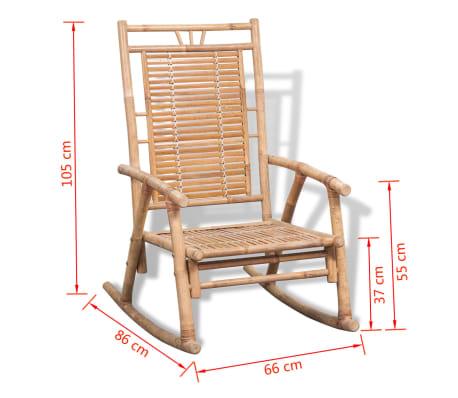 vidaXL Rocking Chair Bamboo[10/10]