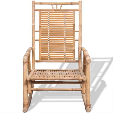 vidaXL Rocking Chair Bamboo[2/10]