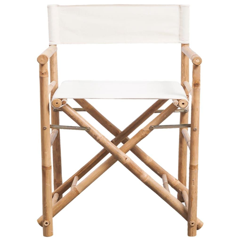 vidaXL Regisseursstoelen 2 st inklapbaar bamboe en canvas