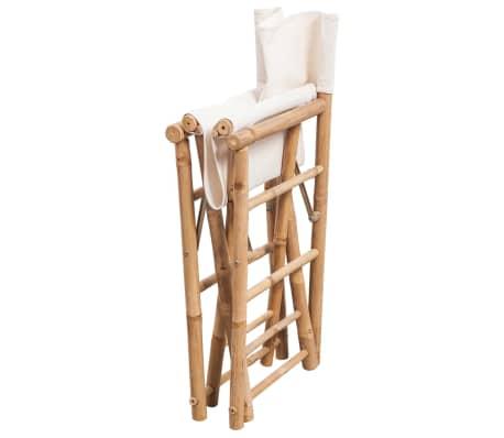 vidaXL Folding Director's Chair 2 pcs Bamboo and Canvas[4/6]