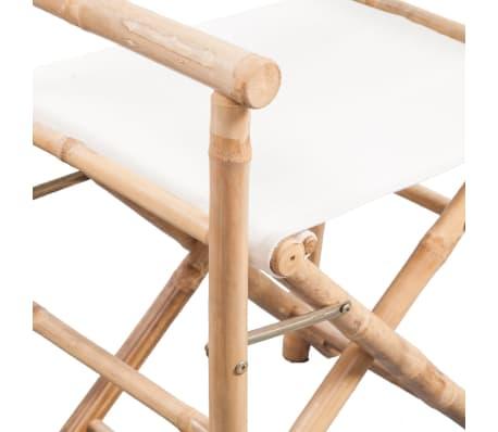 vidaXL Folding Director's Chair 2 pcs Bamboo and Canvas[5/6]