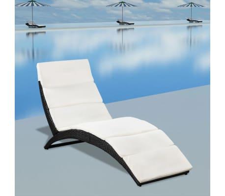 Vidaxl klappbare sonnenliege mit polsterauflage poly for Klappbare sonnenliege