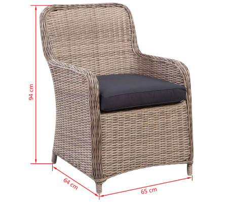 vidaxl garten essgruppe 13 tlg braun pe rattan g nstig kaufen. Black Bedroom Furniture Sets. Home Design Ideas