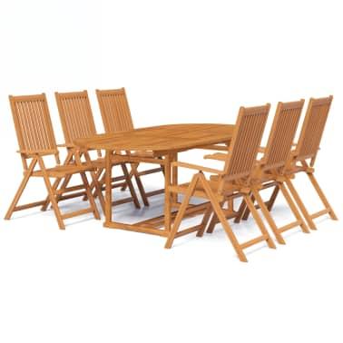 vidaXL en d'acacia dîner à 7 Mobilier Bois pcs d'extérieur NnOmv8w0