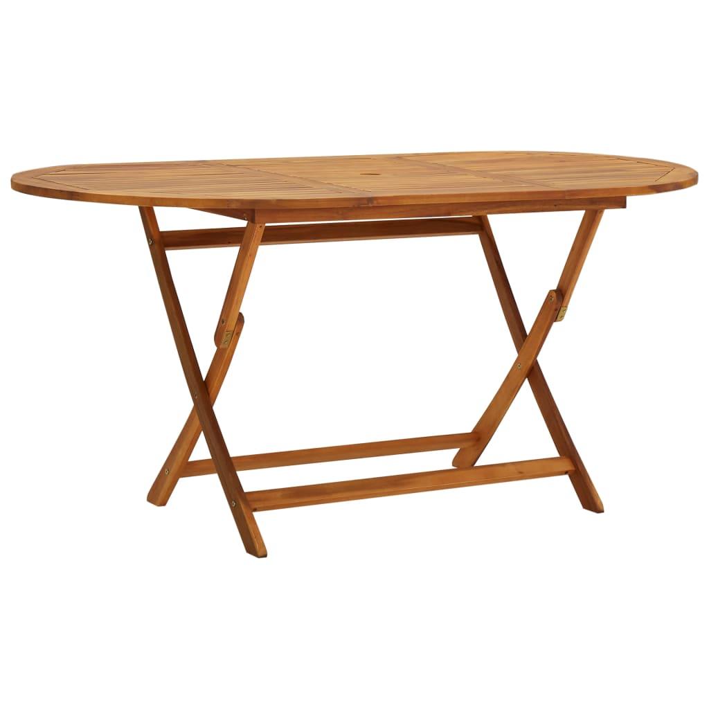 vidaXL Stół ogrodowy, 160x85x75 cm, lite drewno akacjowe