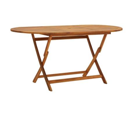 vidaXL Garden Table 160x85x75 cm Solid Acacia Wood-picture