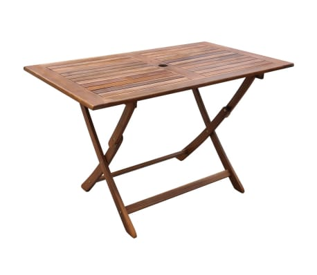 vidaXL Garden Table 120x70x75 cm Solid Acacia Wood-picture