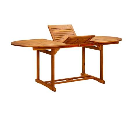 Vidaxl Outdoor Extendable Dining Table Acacia Wood 1 5
