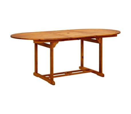 Vidaxl mesa de comedor exterior extensible madera de acacia - Mesa acacia extensible ...