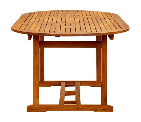 vidaXL Table de jardin 200x100x74 cm Bois d\'acacia massif