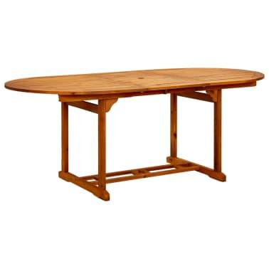 Vidaxl mesa de comedor exterior extensible madera de - Mesa madera exterior ...