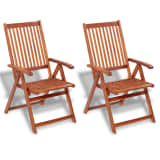 vidaXL Outdoor Dining Chair 2 pcs Acacia Wood