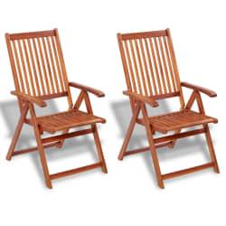 vidaXL Chaise de salle à manger d'extérieur 2 pièces en bois d'acacia