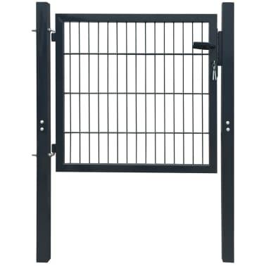 vidaXL Tuinpoort staal antraciet 106x150 cm[1/5]