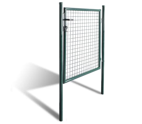 vidaXL Single Door Fence Gate Powder-Coated Steel[3/7]