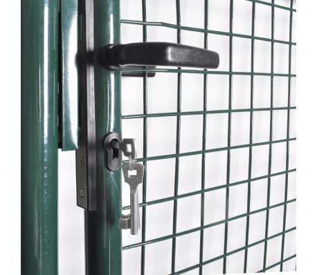 vidaXL Single Door Fence Gate Powder-Coated Steel[4/7]