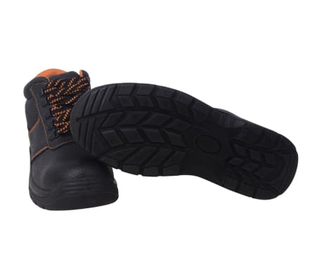 vidaXL Zapatos de seguridad tobillo alto Negros Talla 41 Cuero[3/7]