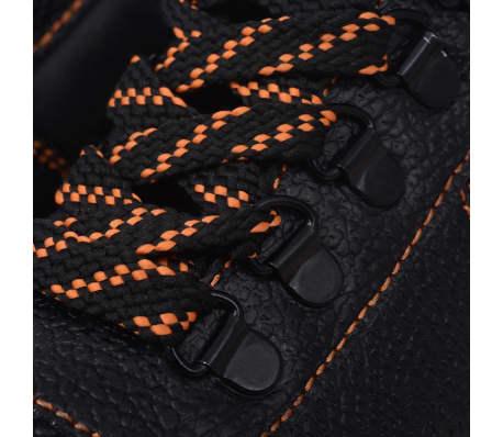 vidaXL Zapatos de seguridad tobillo alto Negros Talla 41 Cuero[6/7]